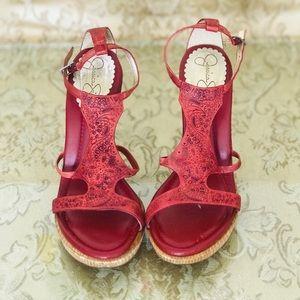 Jessica Simpson red sandals